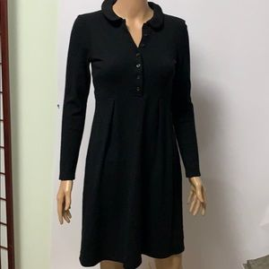 BURBERRY LONDON BLACK WOOL DRESS US 4